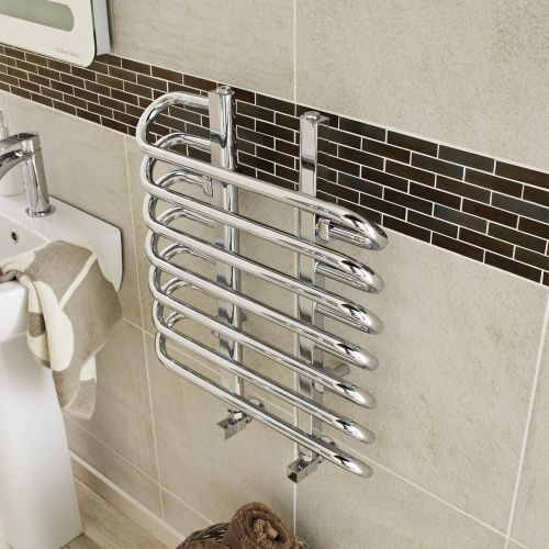 Hudson Reed Finesse 610 x 500mm Designer Radiator  -  Chrome (HL381) - 15036