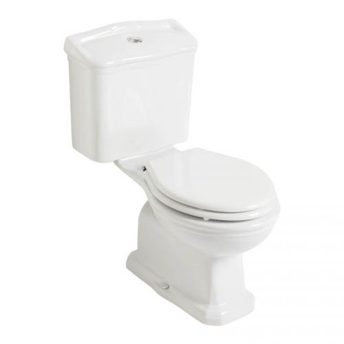 Olympia Impero Close Coupled Open Back Toilet & Soft Close Seat  (14029)