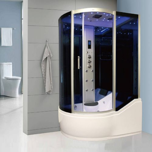 Insignia 1500 x 900mm Offset Steam Shower Enclosure INS8058R - Right Hand (9113)