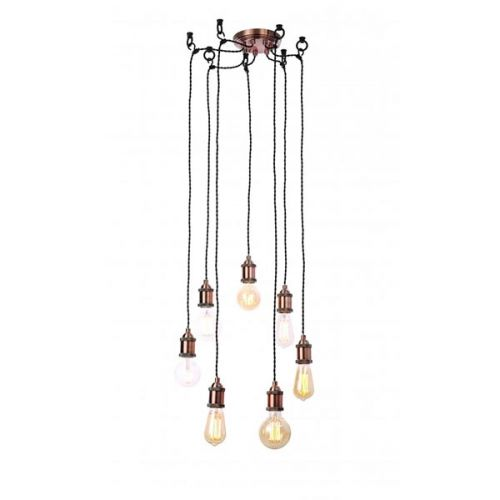 Forum Inlight INL-31789-ACOP Padua 7 Light Cable Ceiling Light - Antique Copper - 18495