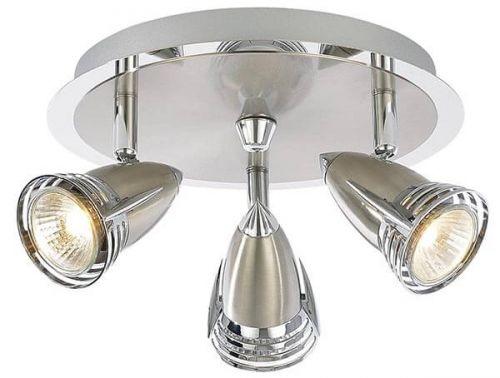 Forum Inlight INL-598310-SNIC Elara 3 Spotlight Ceiling Plate - Satin Nickel - 18497