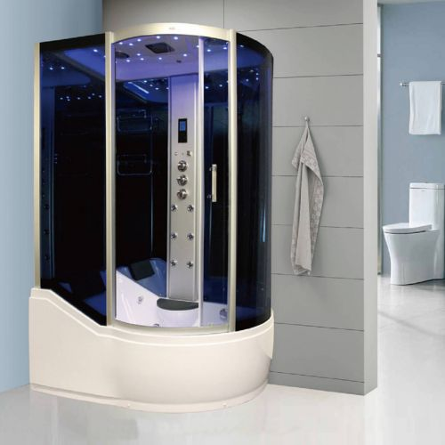 Insignia 1500 x 900mm Offset Steam Shower Enclosure INS8058L - Left Hand (9112)