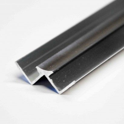 Wide Panel PVC Internal 10mm Silver Trim - 10752