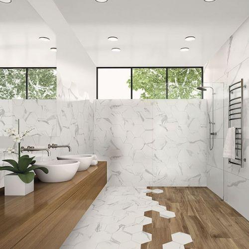 Hexa Soul Matt 23 x 27cm Porcelain Wall & Floor Tile - 0.75sqm perbox (17400)