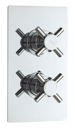 Hudson Reed Tec Crosshead Twin Thermostatic Shower Valve With Diverter KRI3207 (15551)