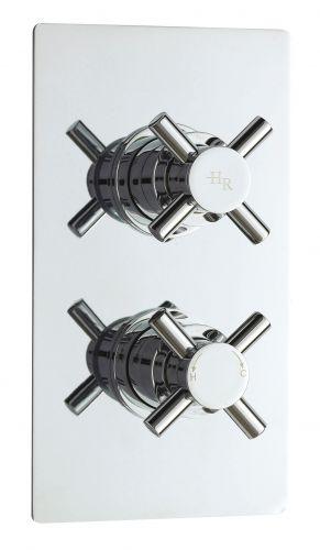 Hudson Reed Tec Crosshead Twin Thermostatic Shower Valve KRI3210 (15552)