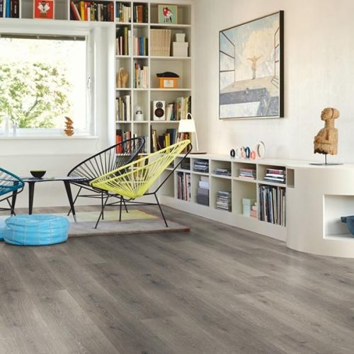 Pergo Living Expressions Classic Plank 4V Laminate Wooden Flooring (1.596sqm per pack) - Mountain Grey Oak - 18139