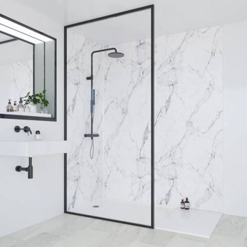 Multipanel Linda Barker Collection Calacatta Marble 598mm Shower Panel (11653)