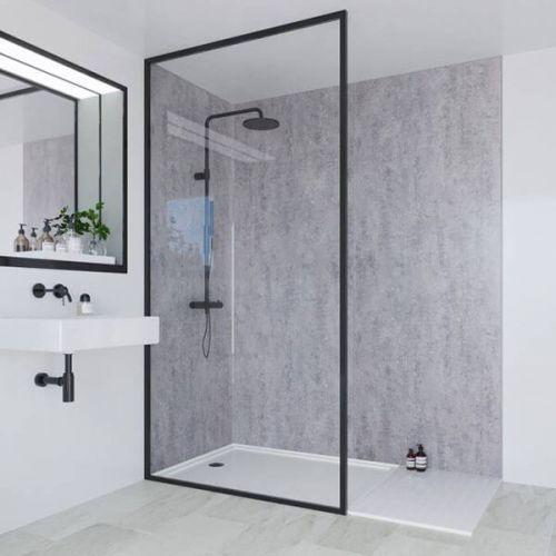 Multipanel Linda Barker Collection Concrete Elements 598mm Shower Panel (9523)