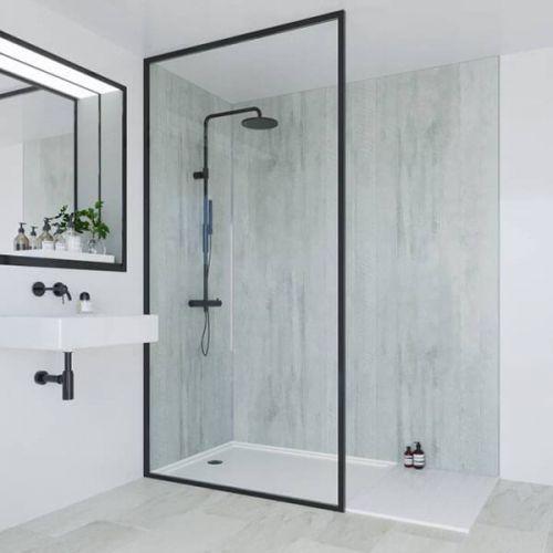 Multipanel Linda Barker Collection Concrete Formwood 598mm Shower Panel (11580)