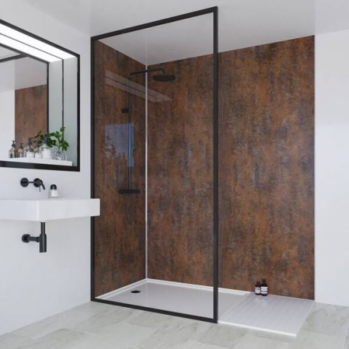 Multipanel Linda Barker Collection Corten Elements 598mm Shower Panel (9610)