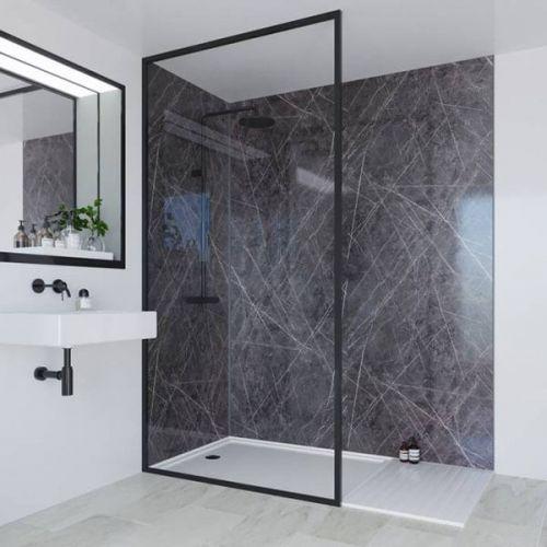 Multipanel Linda Barker Collection Ferro Grafite 598mm Shower Panel (13479)