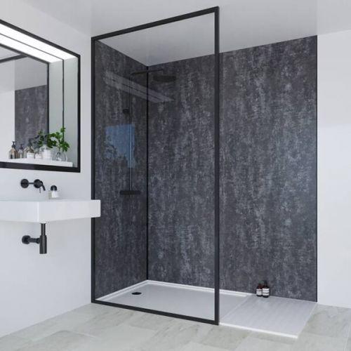Multipanel Linda Barker Collection Graphite Elements 598mm Shower Panel (13474)