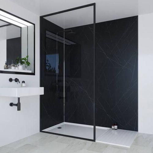 Multipanel Linda Barker Collection Nero Grafite 598mm Shower Panel (13481)