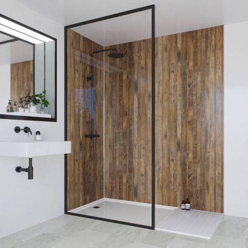 Multipanel Linda Barker Collection Salvaged Plank Elm 598mm Shower Panel (11600)
