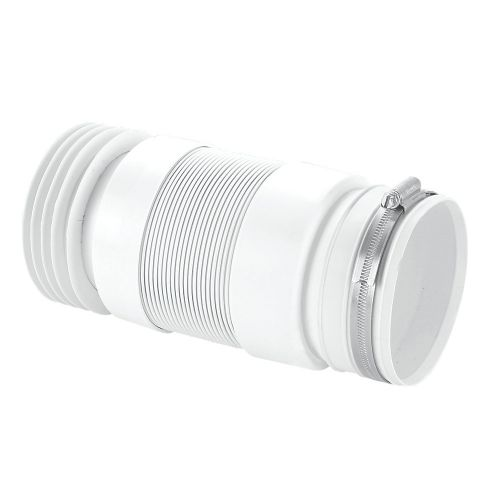McAlpine Flexible 150mm - 310mm WC Pan Connector for Fully Back to Wall Pan (9184)