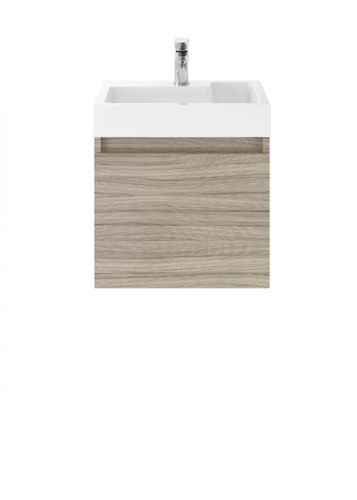 Turin 500mm Cloakroom Wall Mounted Vanity Unit & Basin - Driftwood (18906)