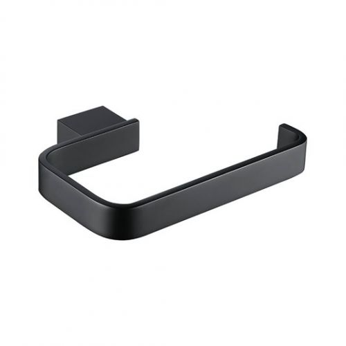 Eliseo Ricci Mono Toilet Roll Holder  -  Black  (19322)