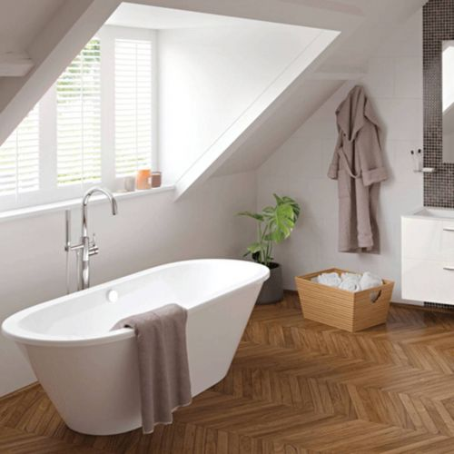 Moods Bathrooms to Love Savoy Freestanding Double Ended Bath  (13672)