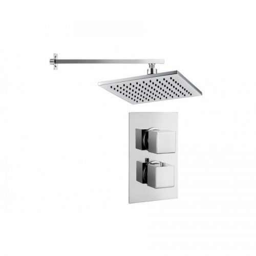 Moods Bathrooms to Love Kuba Twin Single Outlet and Overhead Shower (14410)