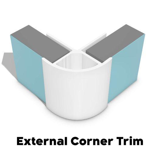 Type 12 External Corner Trim - White - 14802
