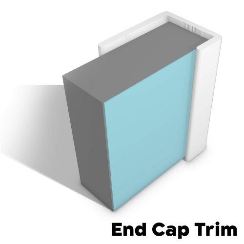 Type 14 End Cap Trim - White - 14803