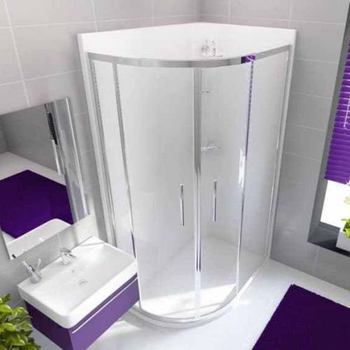 Neptune  1200 x 900mm Porcelain White Offset Quadrant Leak Free Shower Pod - Left Hand (12841A)