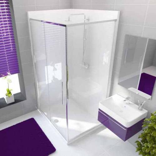 Neptune 1200 x 900mm Porcelain White Rectangle Leak Free Shower Pod - Right Hand (13352A)