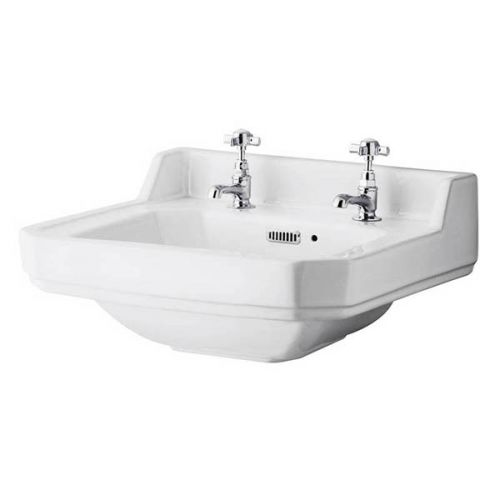 Richmond 500mm 2 Tap Hole Wall Hung Basin (19460)