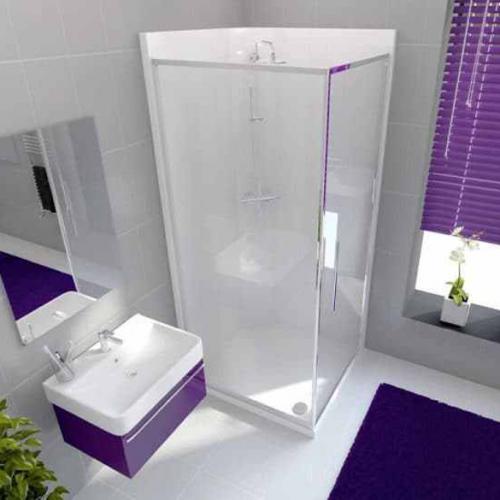 Neptune 800mm Porcelain White Square Leak Free Shower Pod (12821A)