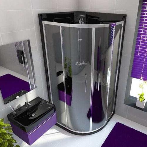 Neptune 800mm Granite Black Quadrant Leak Free Shower Pod (12819B)