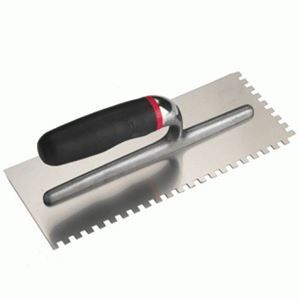 Forte Stainless Steel Notched Trowel 12x12x12mm - 12757