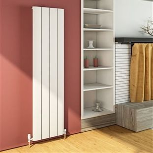 Peretti 1800 x 375mm Aluminium Radiator - Matt White - 13880