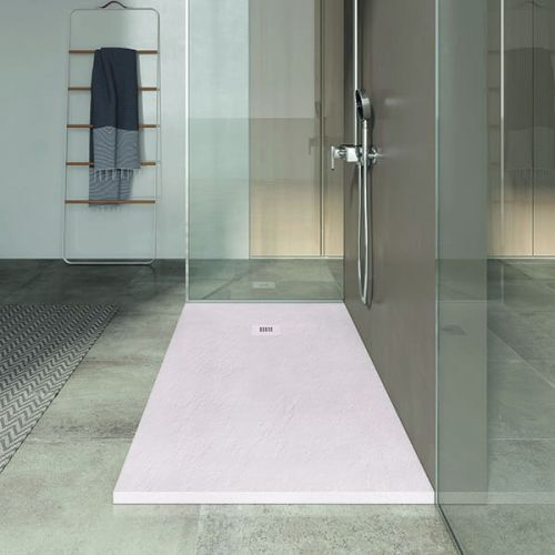 Poalgi 1000 x 900mm Slate Wetroom Tray & Waste - Polar - 7998