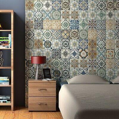 Nikea Morrocan 20 x 20cm Glossy Porcelain Wall & Floor Tile - 1sqm perbox (18665)