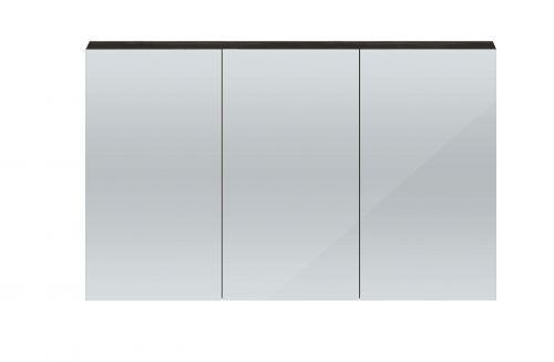 Hudson Reed Quartet 1350mm Mirrored Cabinet - Hacienda Black QUA011 (15711)