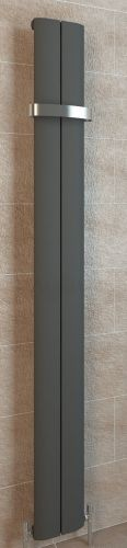 Berlini 1800 x 185mm Aluminium Radiator - Matt Anthracite - 12722
