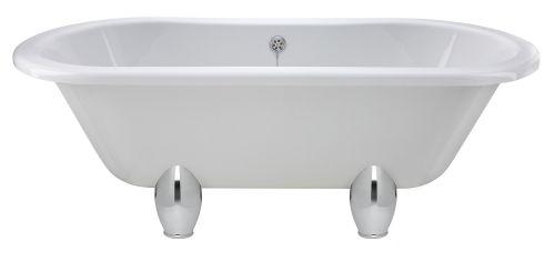 Hudson Reed Kingsbury 1700mm Freestanding Double Ended Bath & Deacon Legset RL1705M1  (15174)