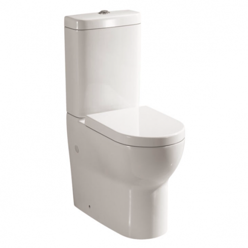 Roma Fully Back to Wall Close Coupled Toilet & Soft Close Seat (14136)