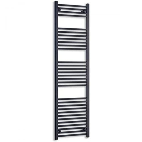 Roma Straight Heated Towel Rail  - 1200mm x 500mm - Black (20116)