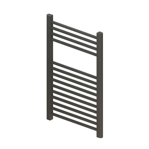 Roma Straight Heated Towel Rail  - 800mm x 400mm - Anthracite (19716)