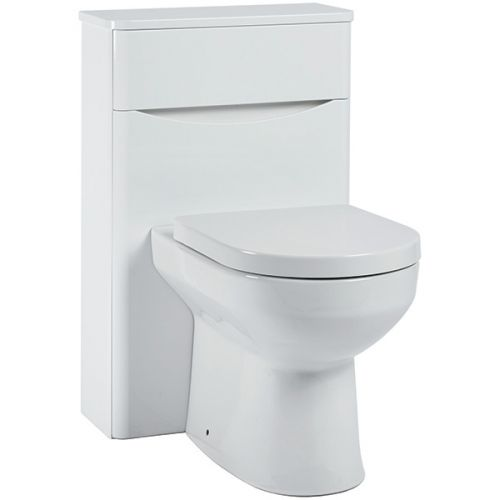 Baltimore 500mm WC Unit - Gloss White (11140)