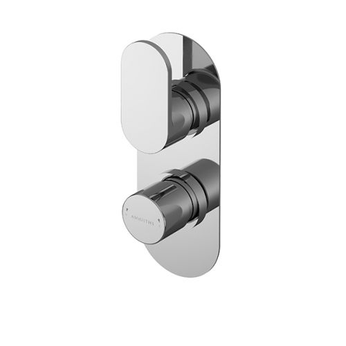 Asquiths Solitude Twin Concealed Shower Valve With Diverter (17689)