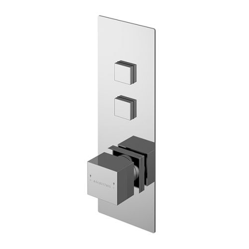 Asquiths Revival Push Button Shower Valve Twin Outlet (17610)