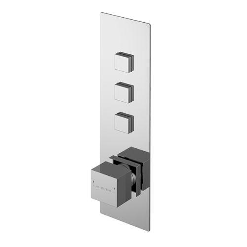 Asquiths Revival Push Button Shower Valve Triple Outlet (17611)