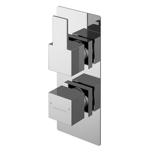 Asquiths Revival Twin Concealed Shower Valve With Diverter (17616)