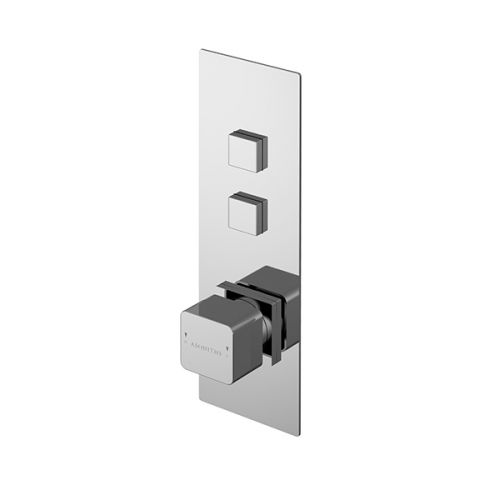 Asquiths Tranquil Push Button Shower Valve Twin Outlet (17696)
