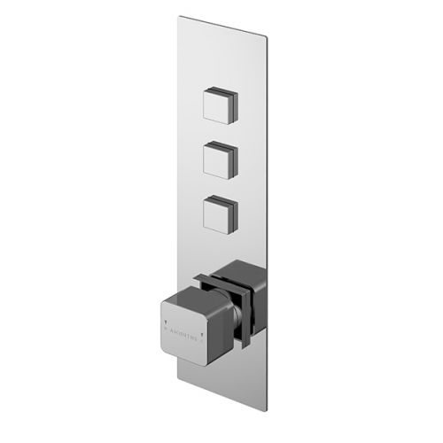 Asquiths Tranquil Push Button Shower Valve Triple Outlet (17697)
