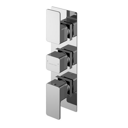 Asquiths Tranquil Triple Concealed Shower Valve With Diverter (17704)