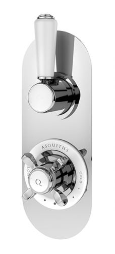 Asquiths Restore Traditional Twin Concealed Valve with Diverter (17566)
